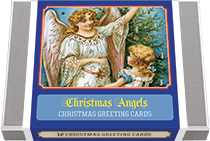 Christmas Angels - Vintage Holiday Greeting Cards (Packaged and Boxed Christmas Greeting Cards)