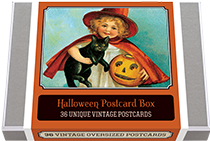 Halloween Postcard Box - 36 Unique Vintage Postcards (Postcards)