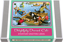 Delightfully Dressed Cats Greeting Card Set (Everyday Packaged and Boxed Greeting Cards)