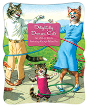 Delightfully Dressed Cats Prints (Portfolio Art Prints)
