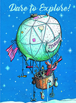 Bunny on a Balloon (Encouragement Greeting Cards)