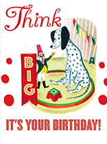 Giant Dalmation (Birthday Greeting Cards)