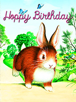 Hopping Bunny Birthday Wishes (Birthday Greeting Cards)