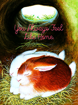 Two Sleeping Bunnies (Anniversary Greeting Card)