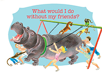 Hippo and Children (Friendship Greeting Cards)