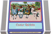 Easter Rabbit Greeting Card Box (Easter Greeting Cards)