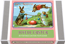 Joyful Easter Postcard Box - 36 Unique Vintage Postcards (Postcards)