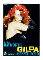 Gilda Poster (Retro Movie Posters Performing Arts Greeting Cards)