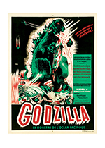 Godzilla Poster (Retro Movie Posters Performing Arts Greeting Cards)