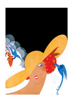 Woman with a Parrot (Jazz Age Fashion Greeting Cards)