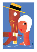 Summer Couple (Jazz Age Fashion Greeting Cards)