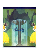Peacock Fountain (Jazz Age Fashion Greeting Cards)