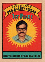 Bad -Assery Award (Birthday Greeting Cards)