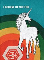 Unicorn & Rainbow (Encouragement Greeting Cards)