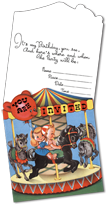 Birthday Invitations: Carousel Die-Cut (Pack of 15 Cards with Envelopes)