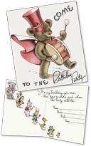 Birthday Invitations: Teddybear (Pack of 15 Cards with Envelopes)
