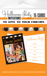 Halloween Party Invitations (Pack of 15 Cards with Envelopes)