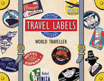 World Traveller Travel Labels