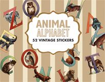 Animal Alphabet Sticker Box