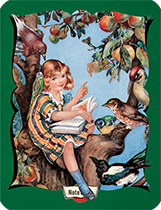 Hello Darling Notebook - A Girl Sitting in a Tree Reading to Birds