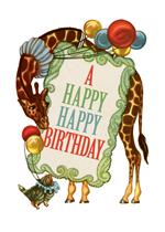 Circus Giraffe (Birthday Greeting Cards)