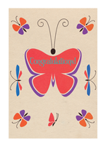 Art Deco Congratulations Butterfly (Congratulations Greeting Cards)