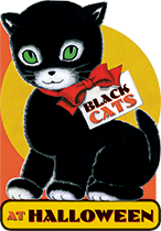 Black Cats At Halloween (Shaped Children's Books)