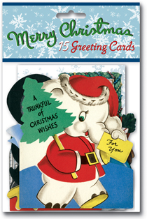 Vintage Christmas Cards Packet: A Trunkful of Christmas Wishes (Packaged and Boxed Christmas Greeting Cards)