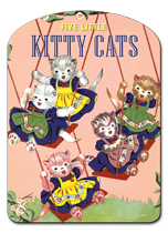 Five Little Kitty Cats (Shaped Children's Books)