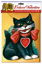 Smiling Cat Deluxe Valentine (Jumbo Deluxe Valentine's Day Greeting Cards)