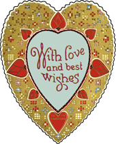 Decorated Heart Valentine's Day Die-Cut Card (Classic Valentine's Day Greeting Cards)