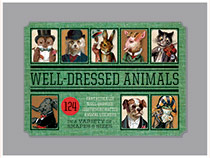 Well Dressed Animals Sticker Box