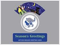 Season's Greetings - Art Deco Christmas Greeting Cards